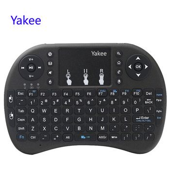 Yakee i8 Wireless Keyboard 2.4GHz English Russian letters Air Mouse Remote Control Touchpad For Android TV Box Notebook   Price: 7.45 USD