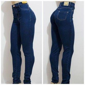 calça jeans feminina cintura alta sawary