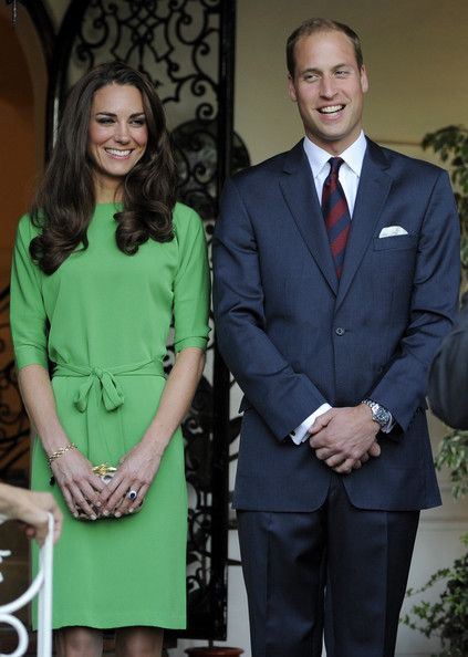 Catherine, Duchess of Cambridge and Prince William, Duke of Cambridge share a laugh during a private reception at the British Consul-General's residence on July 8, 2011 in Los Angeles, California. The newly married Royal couple are on a three day visit to Southern California.