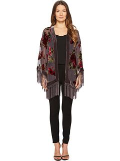 83b395eb The Kooples Short Kimono with Embroidered Silver Dragon and Sequins ...