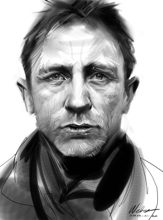 Daniel Craig by Zhang Weber