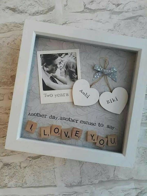 Gift for saying, I love you, personalized Scrabble Art Frame, available for  – Geschenkideen