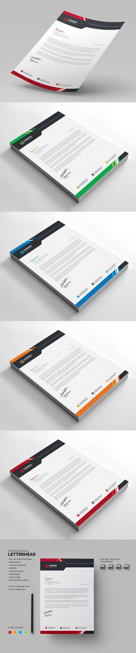 Corporate Letterhead. Stationery Templates