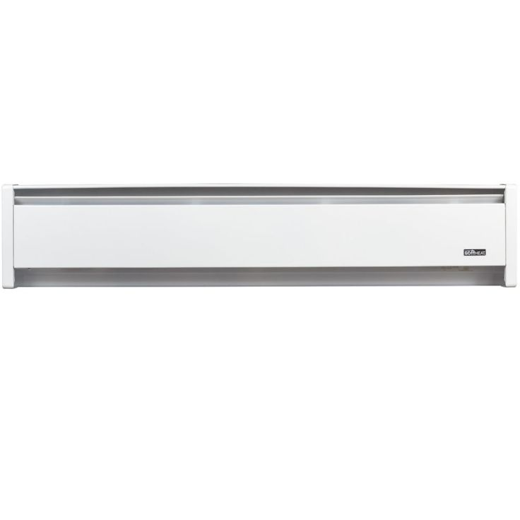 Plinthe électrique de chauffage hydronique SoftHEAT� 1000W, 240V, fils à droite, 59po (149,9cm), blanche