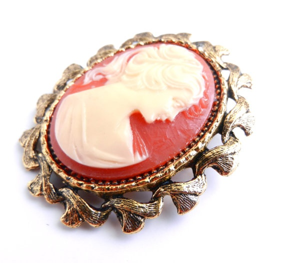 Large Vintage Cameo Brooch - Gold Tone Victorian Revival by MaejeanVINTAGE, $12.00    #cameo #large #vintage #jewelry: Large Vintage, Vintage Accessories, Vintage Cameo, Maejean Vintage, Vintage Jewelry
