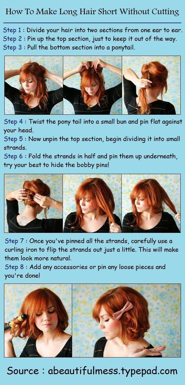 Longhairstyles Short Hair Tutorial Long Hair Styles Short Hair Styles