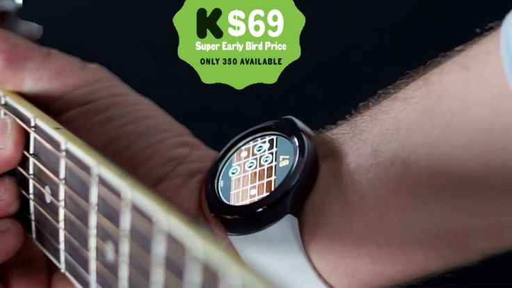 The world's first wearable that helps you learn and practice the guitar, patent pending.