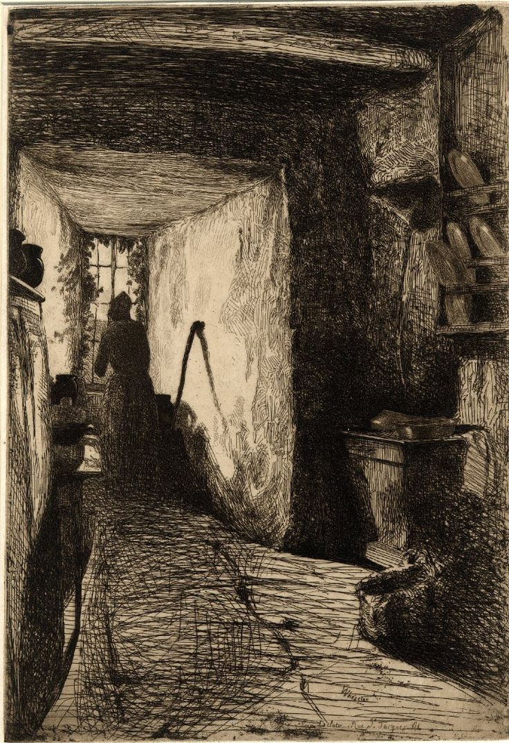 James McNeill Whistler (1834-1903), The Kitchen, etching