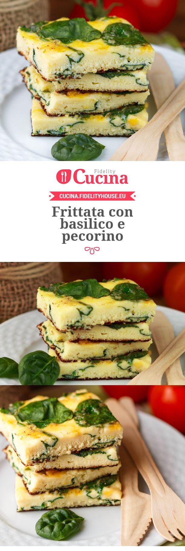 Frittata con basilico e pecorino