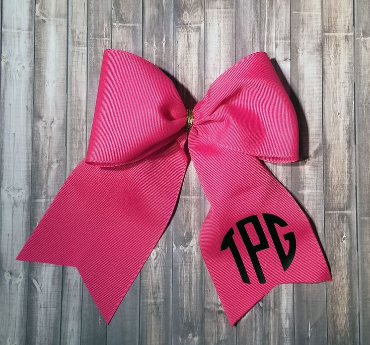 Monogrammed Cheer Bow, Monogrammed Bows, Cheerleading Hair Bow, Hot Pink Cheer Bow, Cheer Bow Big, Extra Large Hair Bow by MrsSaraGBoutique on Etsy