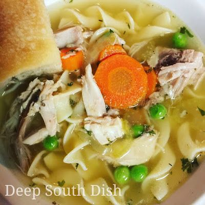 Don't toss that leftover holiday turkey carcass! Repurpose it into a whole new meal with a stock made from the bones for a delicious turkey noodle soup.