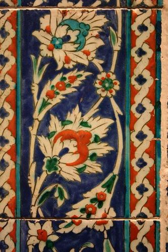 Islamic Tile from the V, probably Iznik