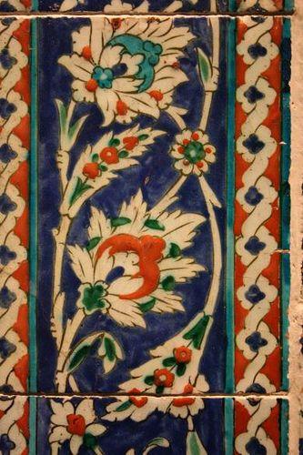 Islamic Tile from the V, probably Iznik