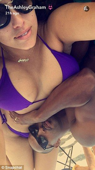 Married life: Ashley also posted Snapchat photos of herself playing around with her husban...