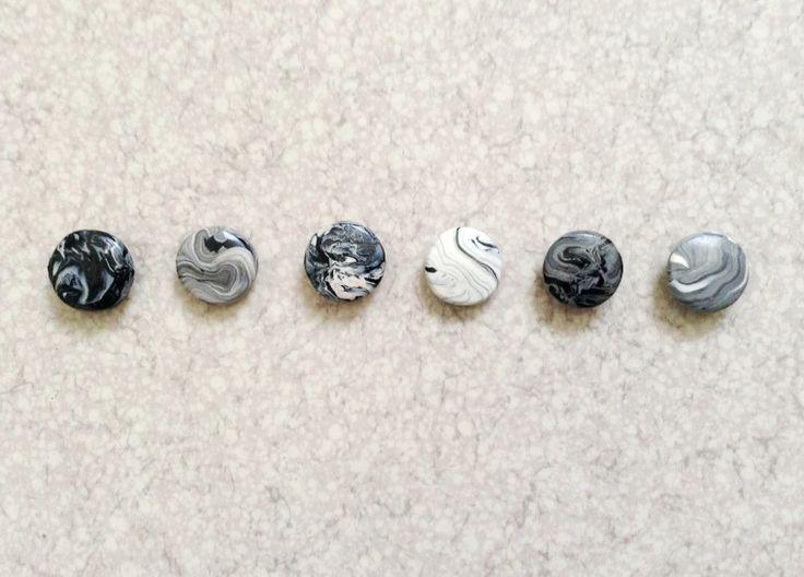 DIY - Magnets marbrés en pâte Fimo