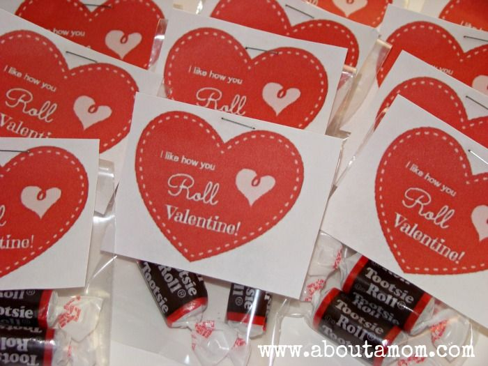 I like how you roll Valentine with Printable  http://www.aboutamom.com/2013/01/more-simple-homemade-valentines-with-printables.html#