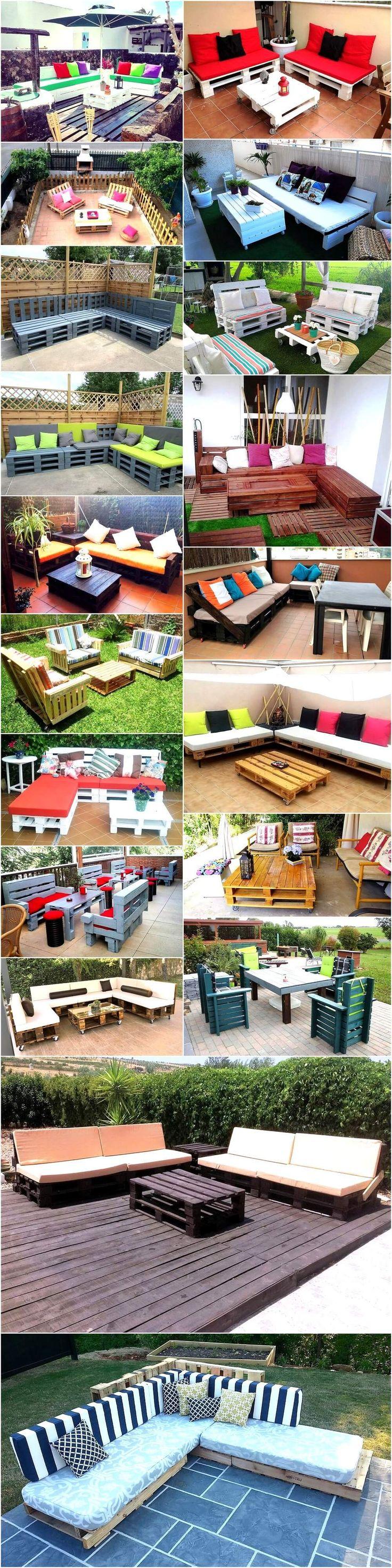 721 best Pallet Outdoor Furniture images on Pinterest