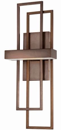 Mid century modern wooden lighting fixture.  I would like to experiment with variations on this using LED tape.
