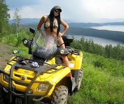 hot girl on atv