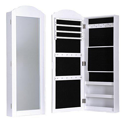Dxp armario con espejo para joyas montado a la pared 158 x for Espejo joyero xxl