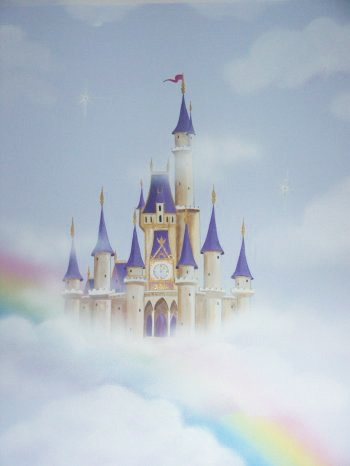 25 best ideas about castle mural on pinterest princess for Disney princess castle mural