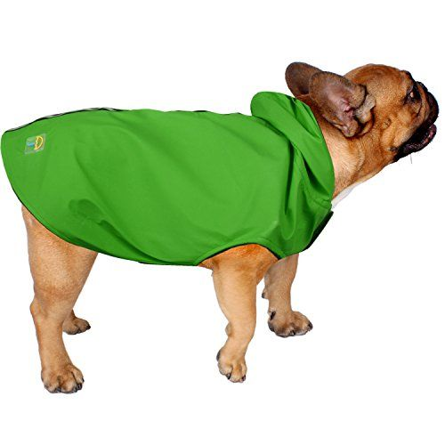 Jelly Wellies Premium Quality Waterproof Reflective Deluxe Raincoat with Polar Fleece Lining for Dogs- Medium, Green ** Find out more about the great product at the image link.