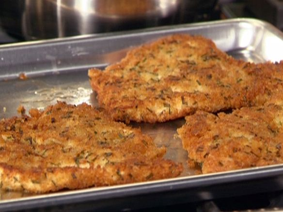 Food Network invites you to try this Chicken Cutlets with Herbs recipe from Rachael Ray.