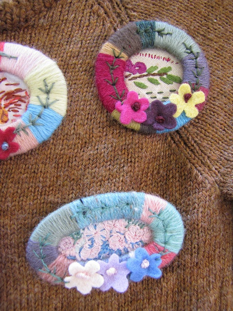 Brooches by Julie Arkell, inspired by a forties example in the Imperial War Museum.