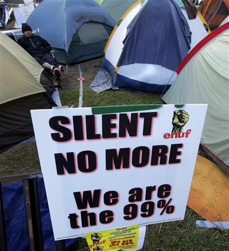 Occupy Oakland protesters in Oakland, CA.