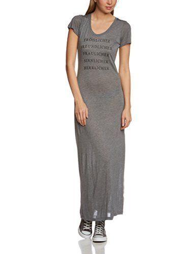 Vestido Maxi femenino y cifra  magnífico con  escote redondo y manga corta.    Imprimir con  efecto discreto.