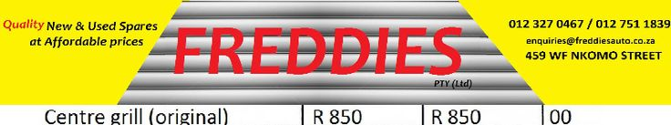 ford figo 2014 centre grill R 850Freddies Auto Parts is a large parts suppliers in South Africa. We stock a full range of original used Ford and Volvo panel and service parts. Ford and Volvo parts new and second hand at good price ford and volvo.459 WF Nkomo St, Pretoria West, Pretoria, 0183, South Africa