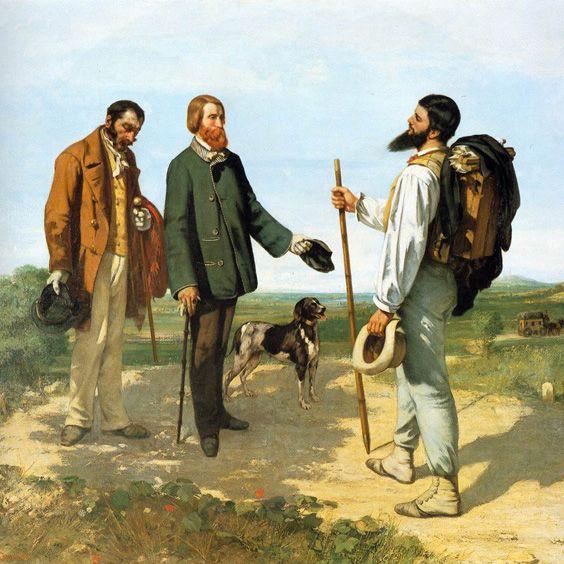 Gustave Courbet – Bonjour Monsieur Courbet (1854)