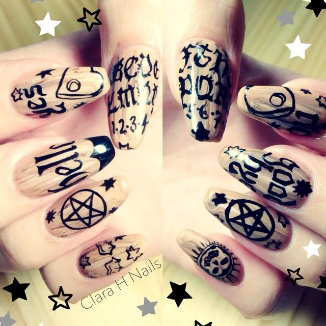 OUIJA board nails ⭐ ️(at Clara H. Nails)