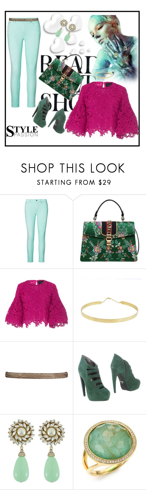 """Hot N Ready"" by gigi-sessions on Polyvore featuring Valentino, Ralph Lauren, Gucci, Costarellos, Lana, Jeffrey Campbell, Ciner, Ippolita and Sorrelli"