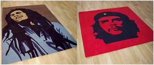 Modern Rugs   Since I've started this blog I've found some interesting <strong>modern rugs</strong> like : Modern Rugs Uk can make personalized rugs. Until now they have just Audrey Hepburn, Bob Marley, Jim Morrison and Che Guevara beautifully portrayed on extremely high quality 100% wool rugs. Prices are from £299 to £399.<!--more-