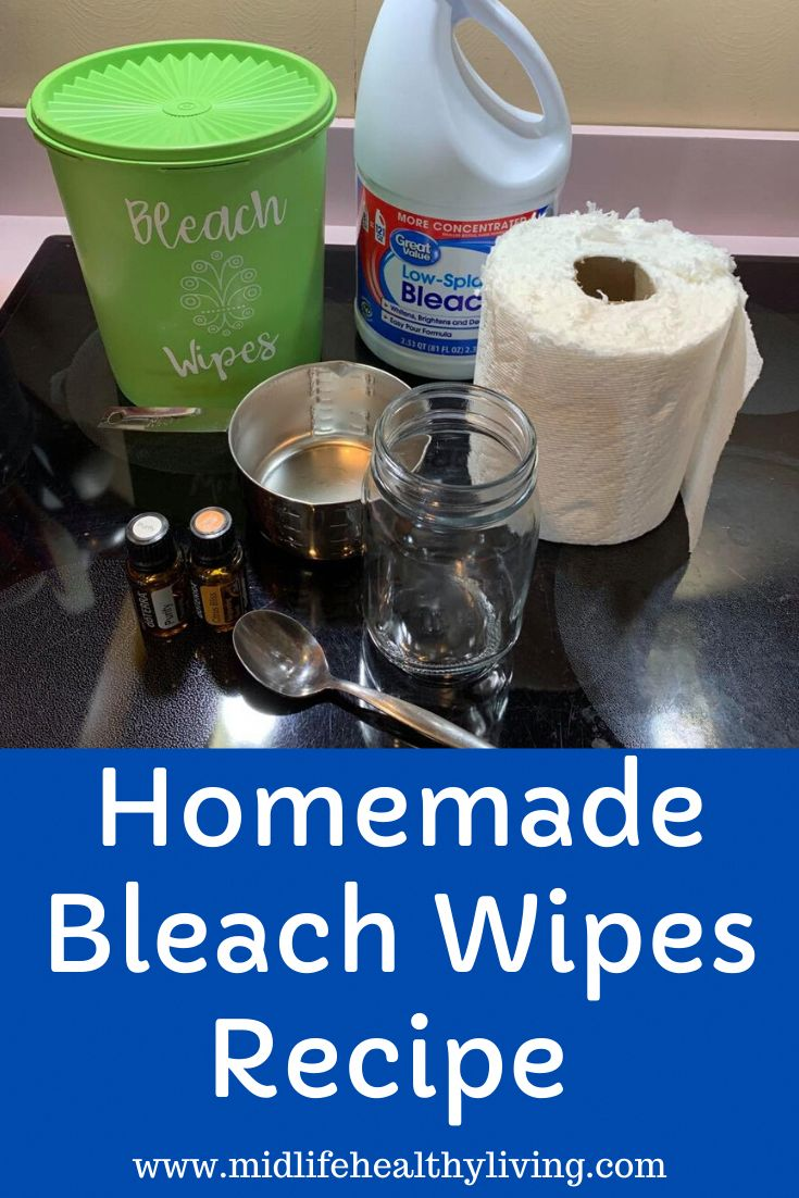 Homemade Bleach Wipes Recipe in 2020 Homemade bleach