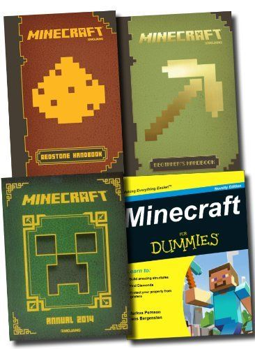 Minecraft 4 Books Collection Set (Minecraft: The Official Annual 2014, Minecraft: Beginner's Handbook, Minecraft: Redstone Handbook, Minecraft For Dummies) by Egmont, http://www.amazon.co.uk/dp/B00HVB9B7Y/ref=cm_sw_r_pi_dp_7r57sb161D390