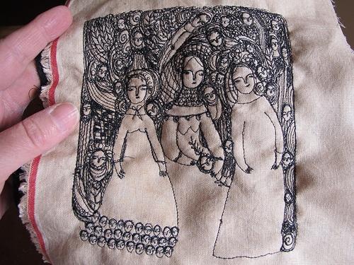 Trabajo de arte textil: