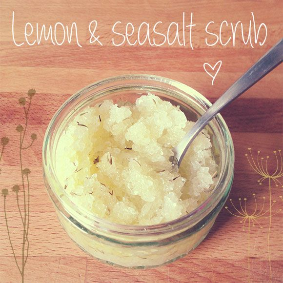 Lemon & Thyme seasalt body scrub recipe