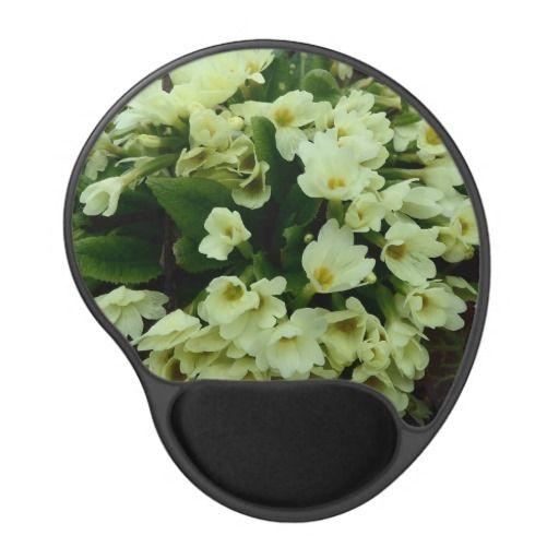 Beautiful Spring Primula vulgaris Primroses in dry leaves gel Mouse Pad by #PLdesign #flowers #FlowerGift #Spring