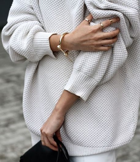 chunky knits and gold