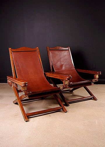 Pair of  Anglo-Indian Colonial Planter's Chairs