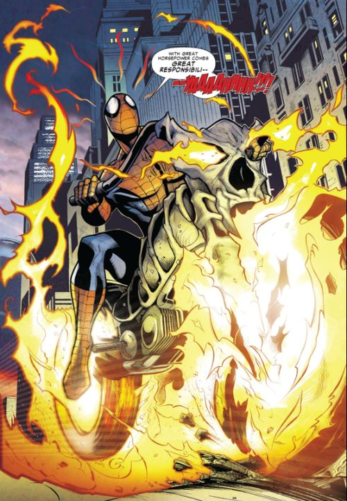 Spider-Man/Ghost Rider - Lee Garbett (Pencils) Alejandro Sicat (Inks) Fabio D'Auria (Colors)