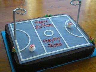 Netball Cake Designs