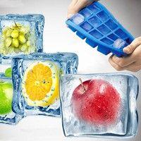 Wish | DIY Creative Big Ice Cube Mold Square Shape Silicone Ice Tray Ice Cube Maker