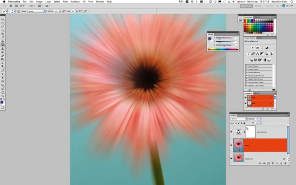 Radial Blur: fake a zoom burst effect from your fixed focal length lens - Step 3