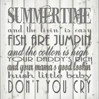 $15 Summertime poster available on Etsy: http://www.etsy.com/listing/79395757/summertime-lyrics-printable-poster-in