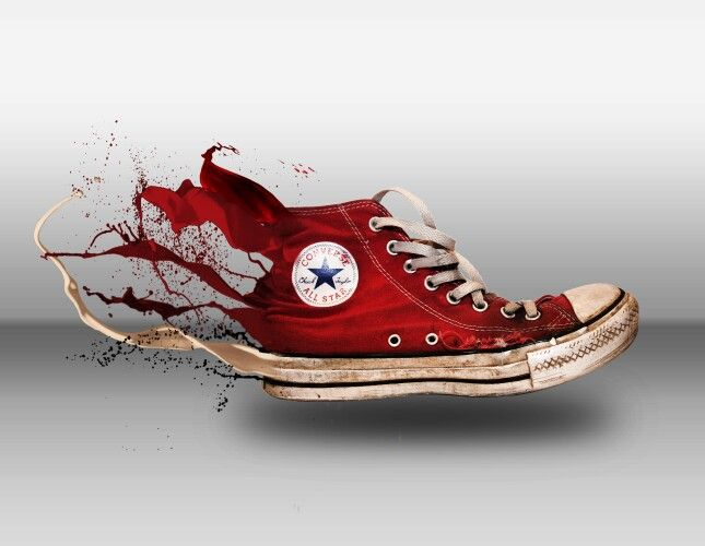 More than just a shoe, it's legacy of art #converse #shoes #digital #art #splash