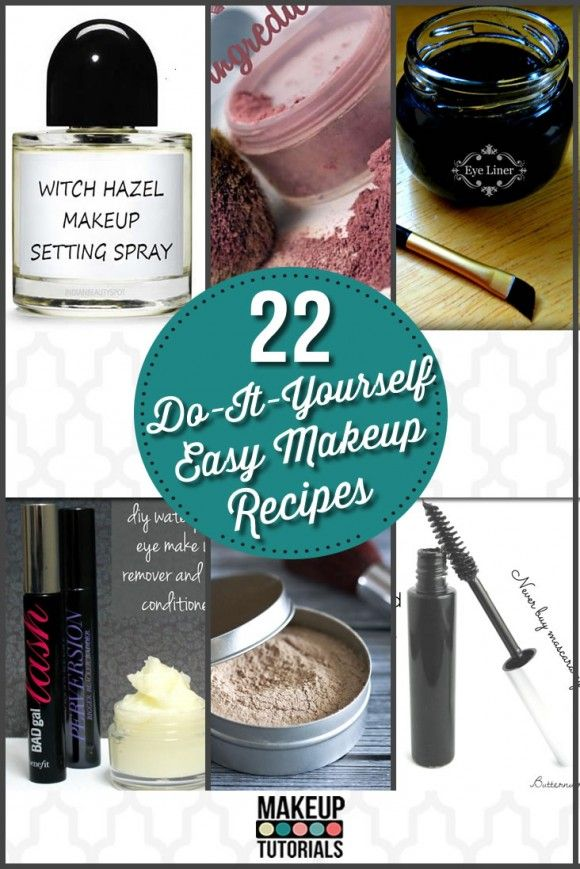 22 Easy DIY Makeup Recipes & Makeup Ideas | Awesome Beauty Tips & Tricks For Saving Money On Makeup By Makeup Tutorials. http://makeuptutorials.com/22-diy-cosmetics-easy-makeup-recipe-ideas/