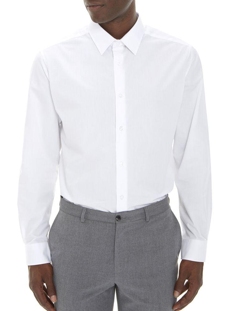 White Regular Fit Smart Shirt* - Mens Formal Shirts - Suits - Burton